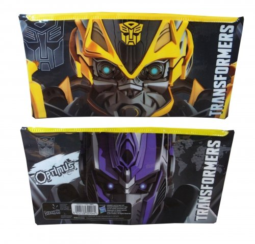 Character Transformers New Large Flat Pencil Case Stationery