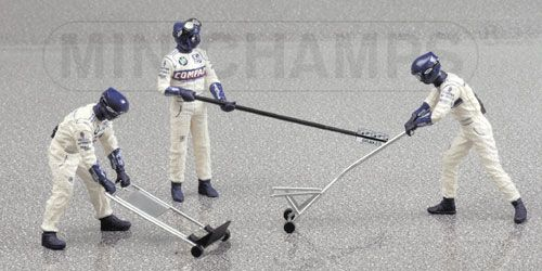 1:43 Minichamps BMW Williams Jack Set