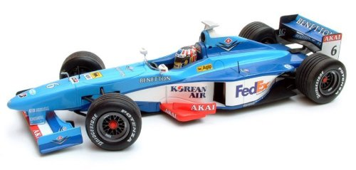 1:43 Scale Benetton Playlife B198 - A.Wurz 1998