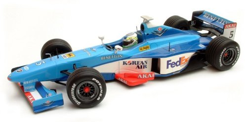1:43 Scale Benetton Playlife B198 - G.Fisichella 1998
