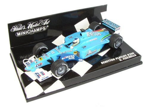 1:43 Scale Benetton Playlife B200 G Fisichella