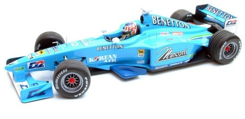 1:43 Scale Benetton Playlife B200 Showcar A.Wurz Ltd Ed 2.736pcs