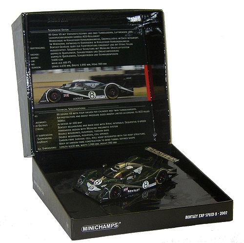 1:43 Scale Bentley EXP Speed 8