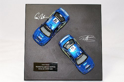 Subaru WRC 1:43 Makinen and Solberg Car set of 2 2002 Ltd Ed.