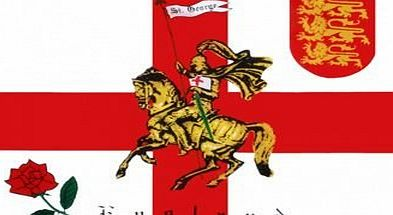 1000 Flags England Rose and Lion Charger St George 5x3 Flag