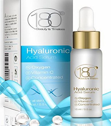 180 Cosmetics Hyaluronic Acid Serum with Oxygen and Vitamin C - Reduce Fine Lines From Day 1, Powerful Antioxidant Serum With Hyaluronic Acid - DEAL OF THE DAY