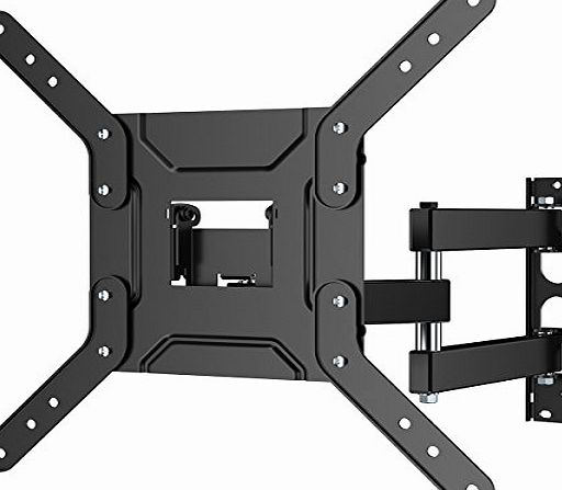 1home Corner TV Wall Bracket Mount with Cantilever Arm for 24 - 50 Inch LED LCD Plasma amp; Curved Screens,Max VESA 400mm x 400mm