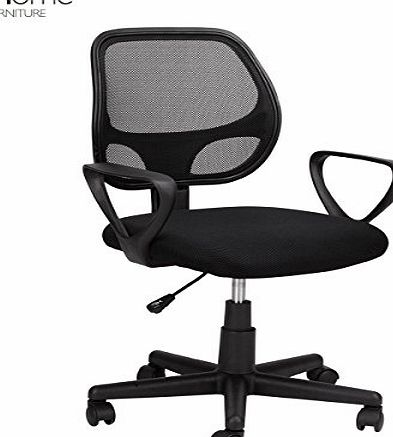 1home Desk Armchair Adjustable Swivel Office Computer Chair Ergonomic Task Chair Mesh Fabric