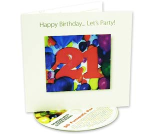 Birthday 3D Greeting Card With CD