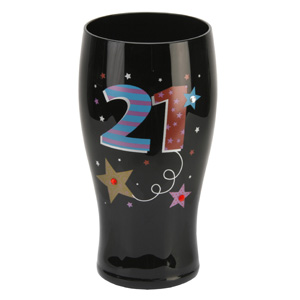 Birthday Black Beer Glass