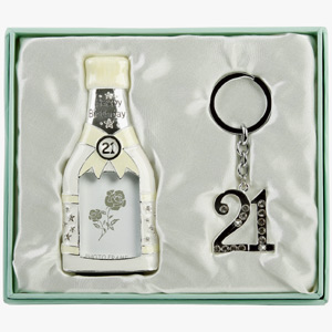 Birthday Champagne Bottle Photo Frame and