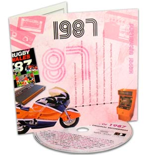 Birthday Classic Years CD and Greeting Card - 1987