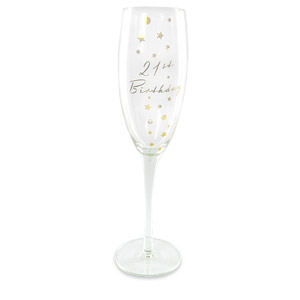 Birthday Diamante Champagne Glass