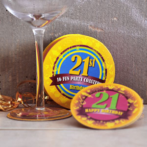 Birthday Pack 16 Party Coasters
