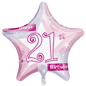 Birthday Pink Shimmer Foil Balloon