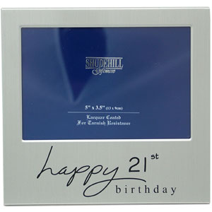 Birthday Satin Silver Photo Frame