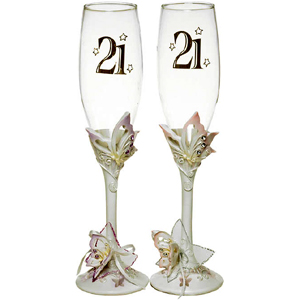 Butterfly Champagne Glass