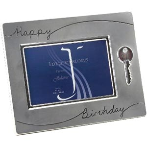 Key Silverplated Photo Frame