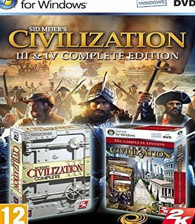 2K Games Civilization 3 amp; 4 Complete Edition Game PC