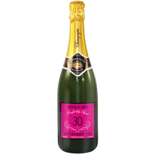 Birthday Personalised Champagne - Pink Label