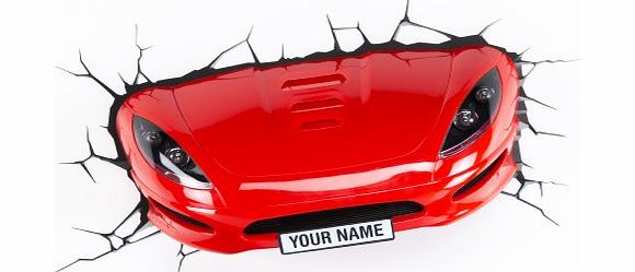 3D Light FX Plastic Sports Car Light - Red