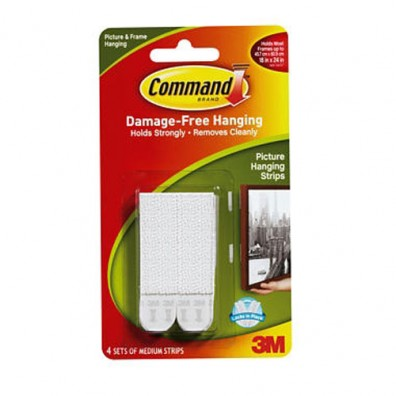 Command Medium Picture Strips 4pk 17201-4PK