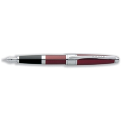 Cross Apogee Titian Red Fountain Pen Lacquered