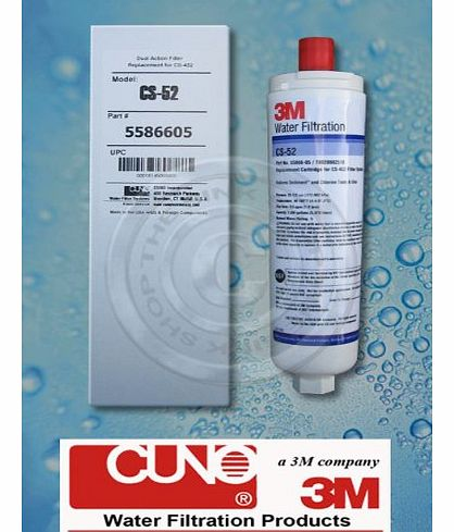 3M CUNO CS-52 FILTER CARTRIDGE for BOSCH, NEFF, SIEMENS FRIDGES/FREEZERS & ABODE AQUIFIER COMPATIBLE