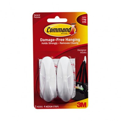 Medium Hooks with Command Adhesive 17081