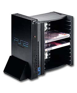 V-Stand & 12 DVD/Games Storage Unit