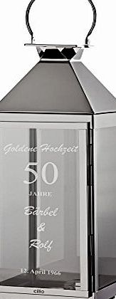 4you Design 50th Golden Anniversary - 50th Wedding Anniversary Gifts with Name and Date - Wedding Lantern