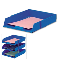 Foolscap Letter Tray (Blue)