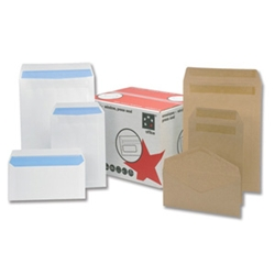 Press Seal White Pocket Envelopes 90gsm