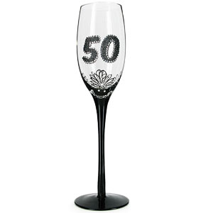 Birthday French Lace Style Champagne Glass
