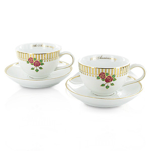 Wedding Anniversary Cup and Saucer Set