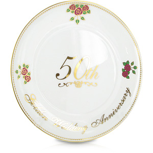 Wedding Anniversary Porcelain Plate