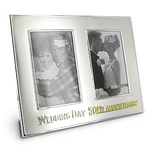 Wedding Anniversary Then and Now Photo Frame