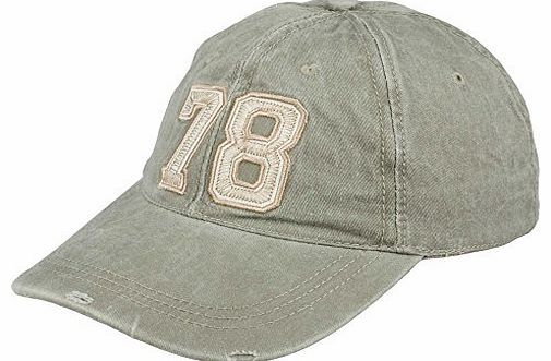 Mens Distressed Vintage 78 Style Adjustable Baseball Caps - CASUAL WORK LEISURE (Army Green)