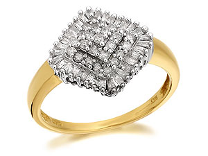 And Diamond Cushion Cluster Ring 50pts