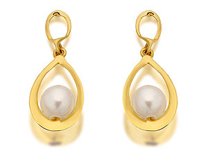 And Freshwater Pearl Teardrop Earrings