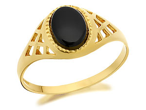 And Onyx Signet Ring - 182937