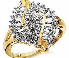 Diamond Cluster Ring 20pts - 049322