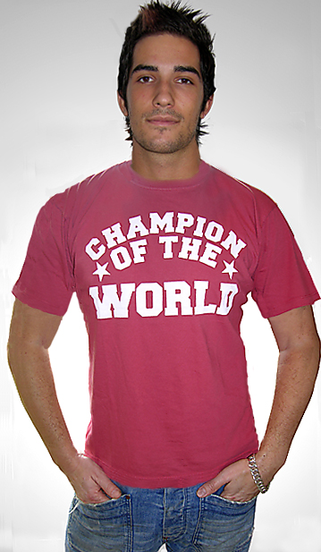 Champion Of The World Mens T Shirt Anon