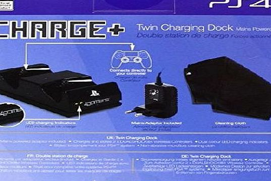 A4T 4GAMERS 706762 PS4 Twin Charging Dock Charger