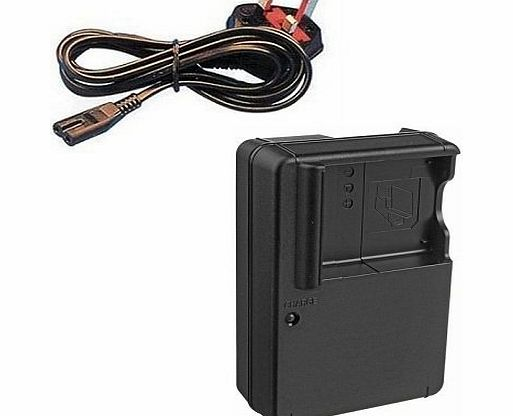 AAA Products® Mains Battery Charger for Panasonic Lumix DMC-TZ6, DMC-TZ7, DMC-TZ8, DMC-TZ9, DMC-TZ10, DMC-TZ18, DMC-TZ19, DMC-TZ20, DMC-TZ22, DMC-TZ25, DMC-TZ26, DMC-TZ30, DMC-TZ65 and DMC-TZ66 Digital Cameras - Re