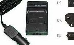 AAA Products Mains Battery Charger for Sony DCR-DVD110 DVD Handycam Camcorder - 2 Hours quick charging - UK, USA, EU plugs and car charger Included - AAA Products - 12 Month Warranty