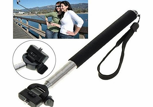 Original Selfie PRO - Traveller Monopod for Compact Digital Cameras - Works with Apple iPhone 6, 6 Plus, 5, 5s, 5c, 4s, 4 / iPod, Samsung S3, S4, S5 / Note 2, 3, 4 / HTC / Sony / Nokia - Works with So