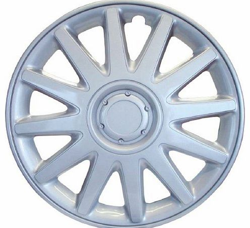AAAz SET OF 4 x 16 INCH ALLOY LOOK CAR WHEEL TRIMS/COVERS/SILVER 16`` HUB CAPS