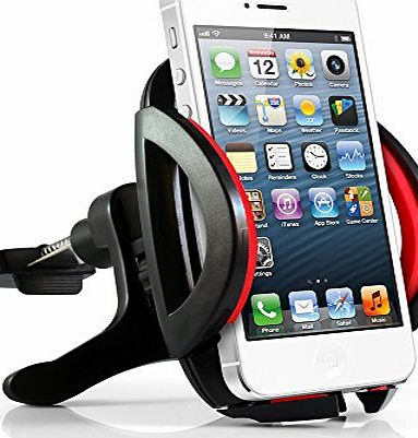 Air Vent Universal Car Mount Holder / Cradle for Cell Phones, IPhone 4 4S 5 5S 5C 6 - Samsung Galaxy S3 S4 S5 - Galaxy Note 2 3 - LG G2 - Motorola Moto X Droid HTC One, Nexus 5 And ALL SMART