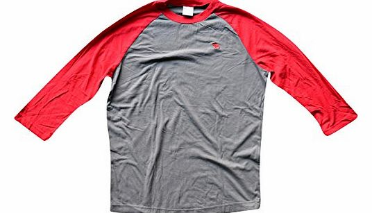 Mens / Boys Designer 3/4 length Sleeve Cotton T-Shirt Red Small
